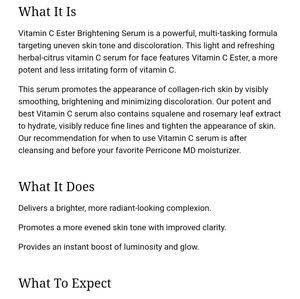Perricone MD Other - PerriconeMD: Vitamin C Ester Eye Serum
